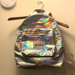 Holographic rave backpack